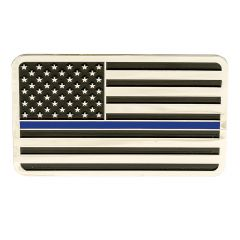THIN BLUE LINE AMERICAN FLAG VEHICLE EMBLEM