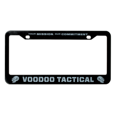 07-9600000000-voodoo-license-plate-frame-gray