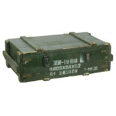 CHINESE WOODEN AMMO CRATE