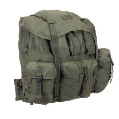 GENUINE US ALICE PACK LCII STYLE BACKPACK WITH NEW MIL-SPEC PLUS STRAPS, KIDNEY PAD & FRAME,
