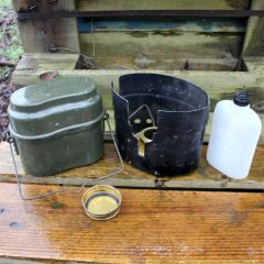 Swedish Trangia Stove with Aluminum Hungarian Mess Kit