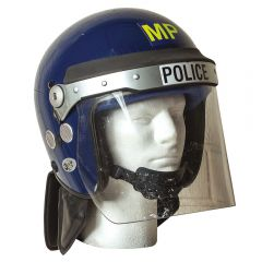 BRITISH ANTI-RIOT 'TOPPER' WITH FACE SHIELD