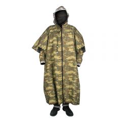 REVERSIBLE HOODED PONCHO SET INCLUDES LEG AND ARM GAITERS