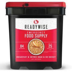 WISE FOODS 84 SERVING BREAKFAST & ENTREE GRAB & GO BUCKET