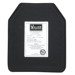 VALOR STANDARD LEVEL III NIJ CERTIFIED PE HARD PLATE 10 X 12 U.S. SHOOTERS CUT