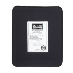 VALOR STANDARD LEVEL III NIJ CERTIFIED PE HARD PLATE, FULL CUT SINGLE CURVE 10 X 12
